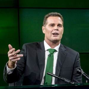 JOHANNESBURG, SOUTH AFRICA - MARCH 01: Rassie Erasmus is announced as the new Springbok coach during the Announcement of New Springbok Management at SuperSport Studios on March 01, 2018 in Johannesburg, South Africa. (Photo by Sydney Seshibedi/Gallo Images)